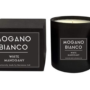 White Mahogany Fragrance Candle Masculine Scent